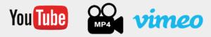 youtube vimeo mp4